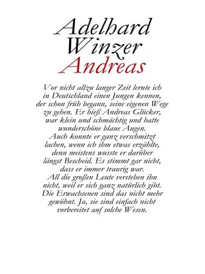 cover image of Andreas