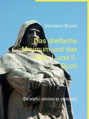 cover image of Das dreifache Minimum und das Maß, I. und II. Buch