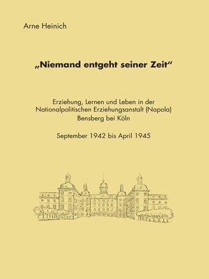"""cover image of """"Niemand entgeht seiner Zeit"""""""
