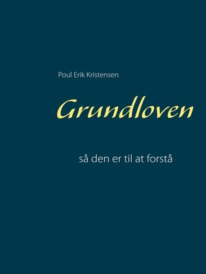 cover image of Grundloven