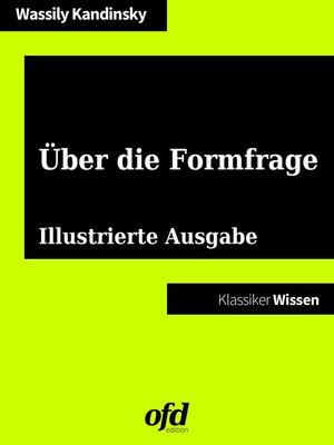 cover image of Über die Formfrage
