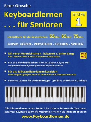 cover image of Keyboardlernen für Senioren (Stufe 1)