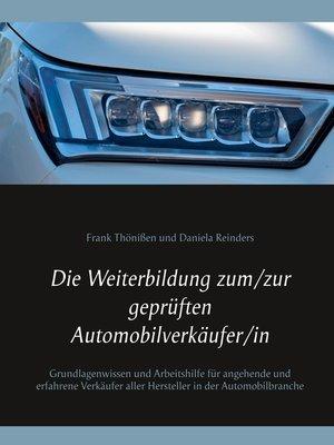 cover image of Die Weiterbildung zum/zur geprüften Automobilverkäufer/in