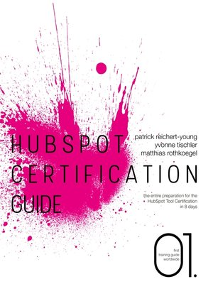 cover image of HubSpot Certification Guide