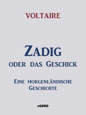 cover image of Zadig oder das Geschick