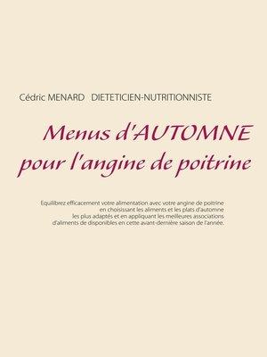 cover image of Menus d'automne pour l'angine de poitrine