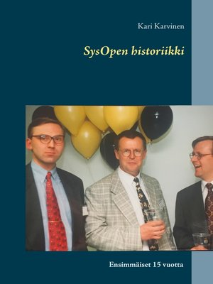 cover image of SysOpen historiikki