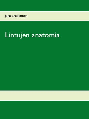 cover image of Lintujen anatomia