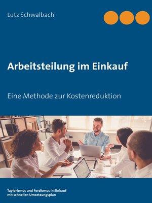 cover image of Arbeitsteilung im Einkauf