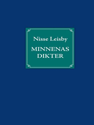 cover image of Minnenas dikter