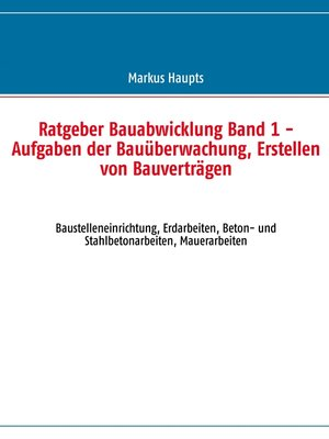 cover image of Ratgeber Bauabwicklung, Band 1