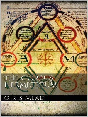 cover image of The Corpus Hermeticum