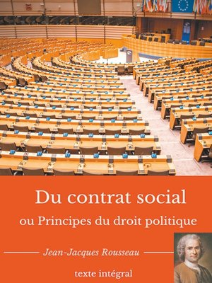 cover image of Du contrat social ou Principes du droit politique