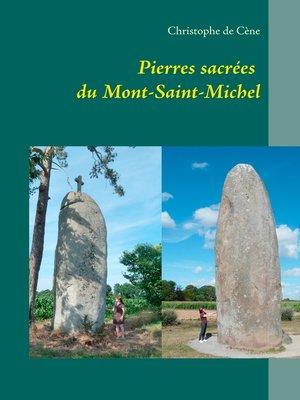 cover image of Pierres sacrées du Mont-Saint-Michel