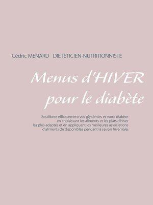 cover image of Menus d'hiver pour le diabète