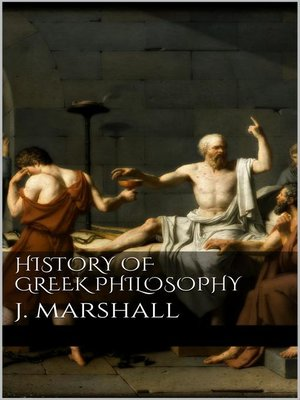 cover image of History of Greek Philosophy