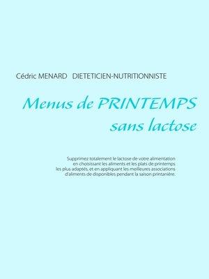 cover image of Menus de printemps sans lactose