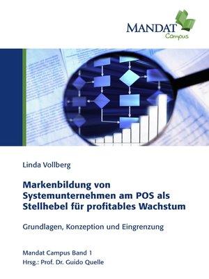 cover image of Markenbildung von Systemunternehmen am POS als Stellhebel für profitables Wachstum