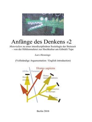 cover image of Anfänge des Denkens #2