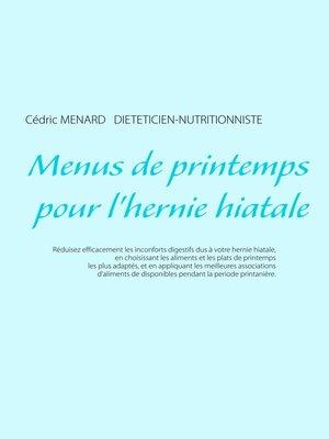 cover image of Menus de printemps pour l'hernie hiatale