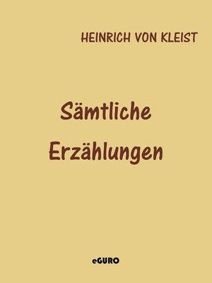 cover image of Sämtliche Erzählungen