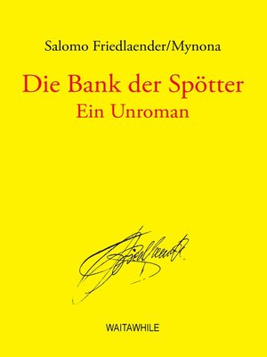 cover image of Die Bank der Spötter