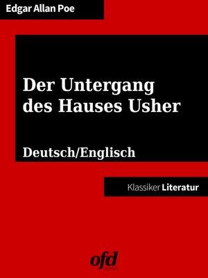 cover image of Der Untergang des Hauses Usher--The Fall of the House of Usher