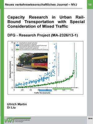 cover image of Neues verkehrswissenschaftliches Journal--Ausgabe 16