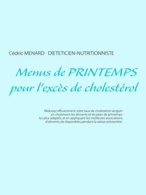 cover image of Menus de printemps pour l'excès de cholestérol
