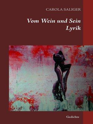cover image of Vom Wein und Sein