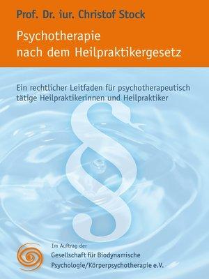 cover image of Psychotherapie nach dem Heilpraktikergesetz