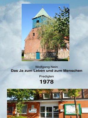 cover image of Das Ja zum Leben und zum Menschen, Band 15
