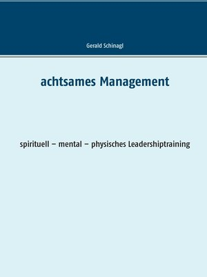 cover image of Achtsames Management