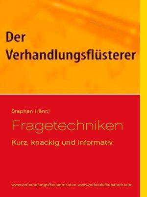 cover image of Fragetechniken