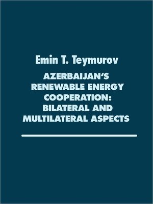 cover image of Azerbaijan's renewable Energy Cooperation
