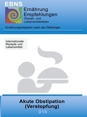 cover image of Ernährung bei Akute Obstipation