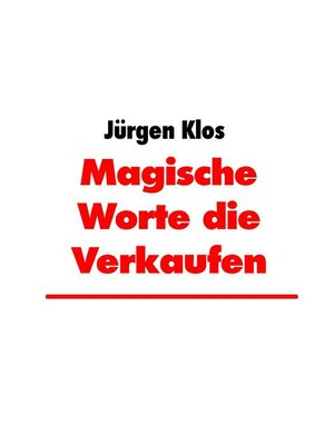 cover image of Magische Worte die Verkaufen
