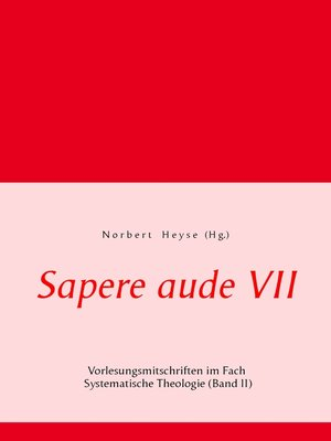 cover image of Sapere aude VII