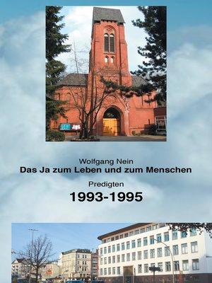 cover image of Das Ja zum Leben und zum Menschen, Band 8
