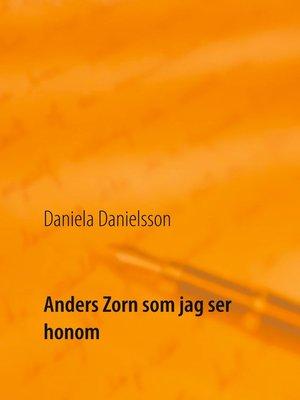 cover image of Anders Zorn som jag ser honom