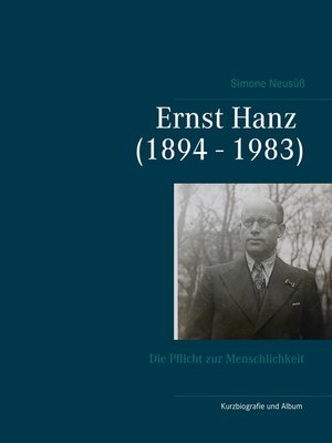 cover image of Ernst Hanz (1894--1983)