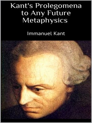 cover image of Kant's Prolegomena to Any Future Metaphysics