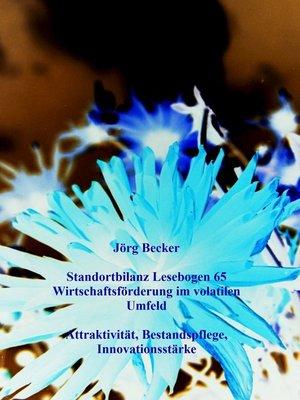 cover image of Standortbilanz Lesebogen 65 Wirtschaftsförderung im volatilen Umfeld