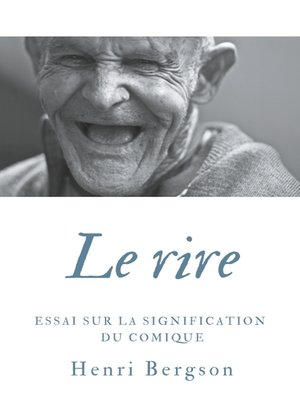 cover image of Le rire