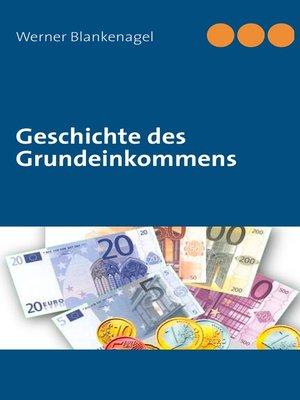 cover image of Geschichte des Grundeinkommens