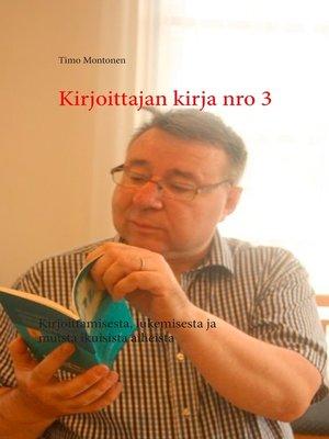 cover image of Kirjoittajan kirja nro 3