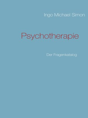 cover image of Psychotherapie