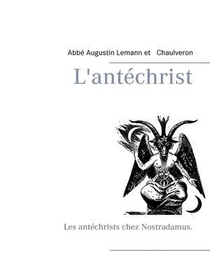 cover image of L'antéchrist