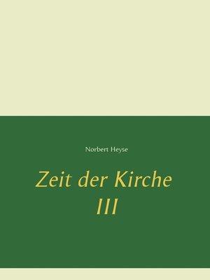 cover image of Zeit der Kirche 3
