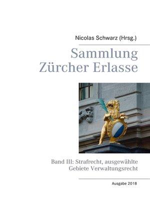 cover image of Sammlung Zürcher Erlasse